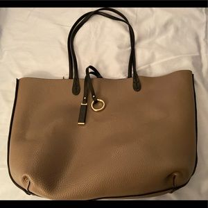Reversible bag with smaller purse included